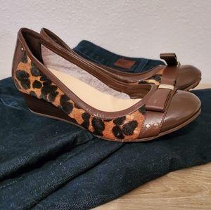Cole Haan   Leopard Calfhair Air Tali Wedge